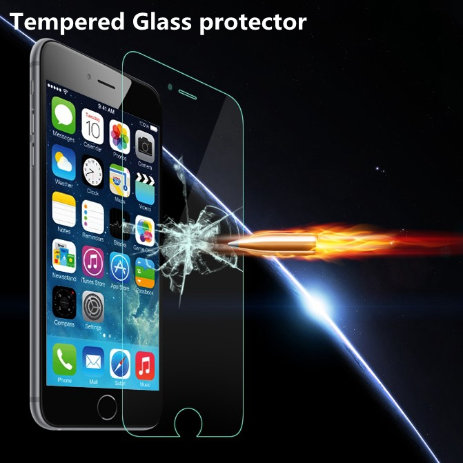 9H Ultrathin Clear Tempered Glass Screen Protector Case for Apple iphone 6 6S 4.7 / Plus 5.5 Reinforced Front Film +Retail Box