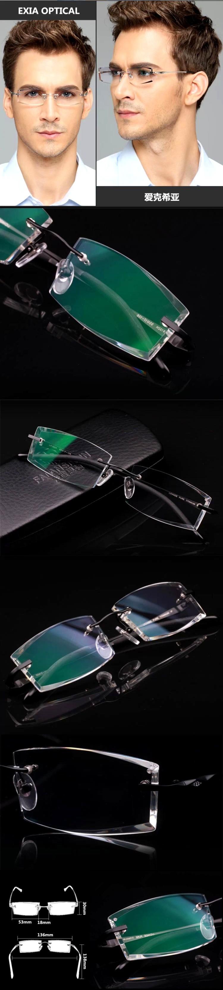 Очки для чтения Gradienten Farben 1, 61 optische lenes randlose brillen m nner kd/59