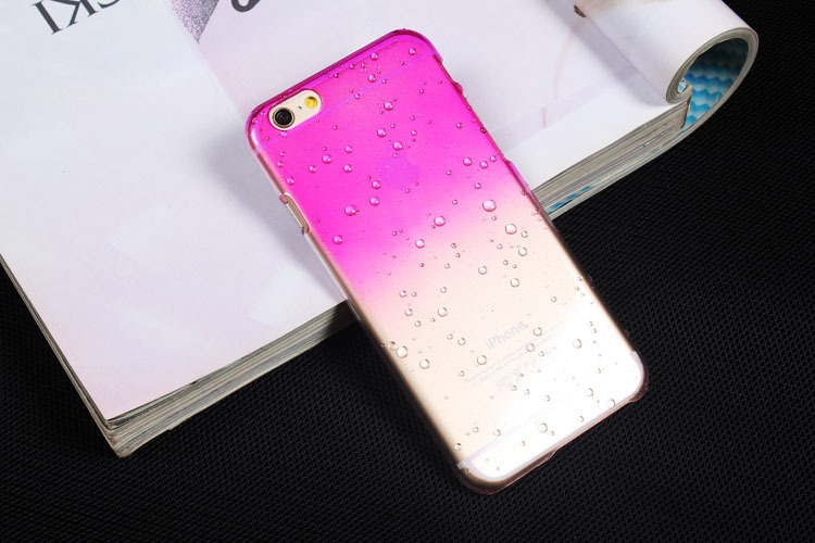 Ultra-thin Creatively 3D rain drop water raindrop hard back cover semi-transparent 9 color phone case for iphone4 5 5s 6 6plus