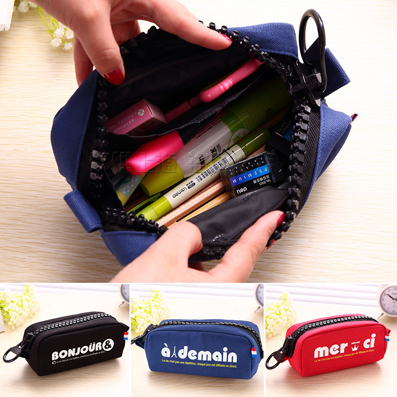 Multifunction Pencil Case Children Large Capacity Storage Bag Cute Big Zipper Pencil Bag School Pencil Case Stationery Bag 33001(China (Mainland))