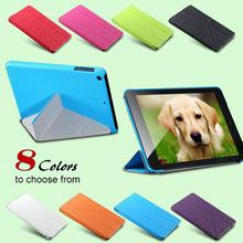 Colorful Mix PU Leather Flip Cover For iPad Mini 1 2 3 Case Sleep Wake W/Stand Mini Cases Eight Folders Support For ipad mini(China (Mainland))