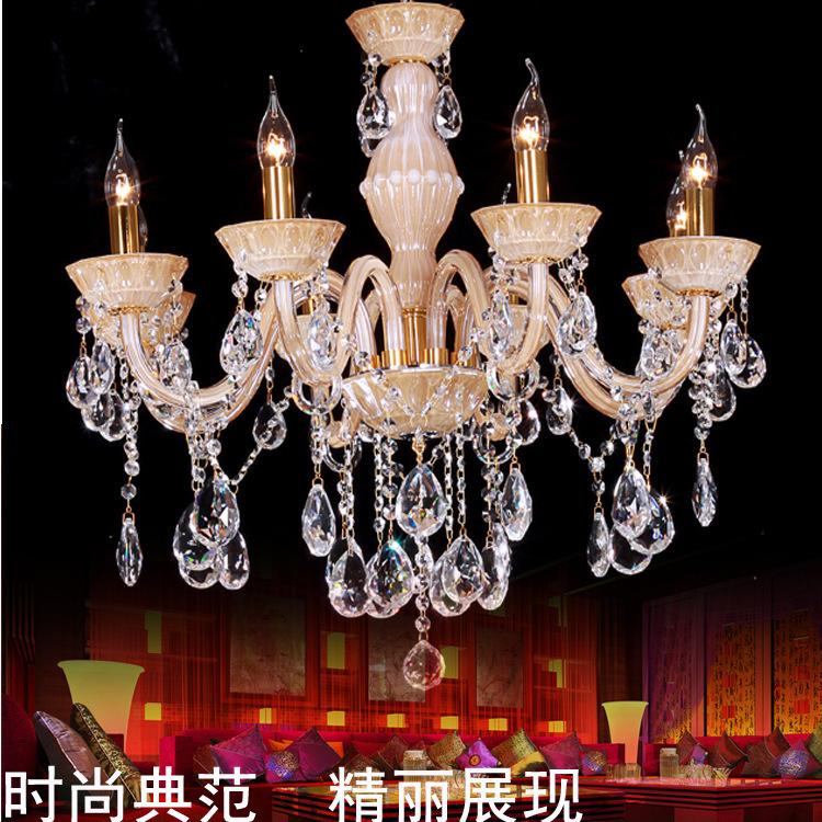 modern led chandelier Classic British royal crystal chandelier 8 K9 crystal lamp living room luxury hotel chandelier droplight(China (Mainland))