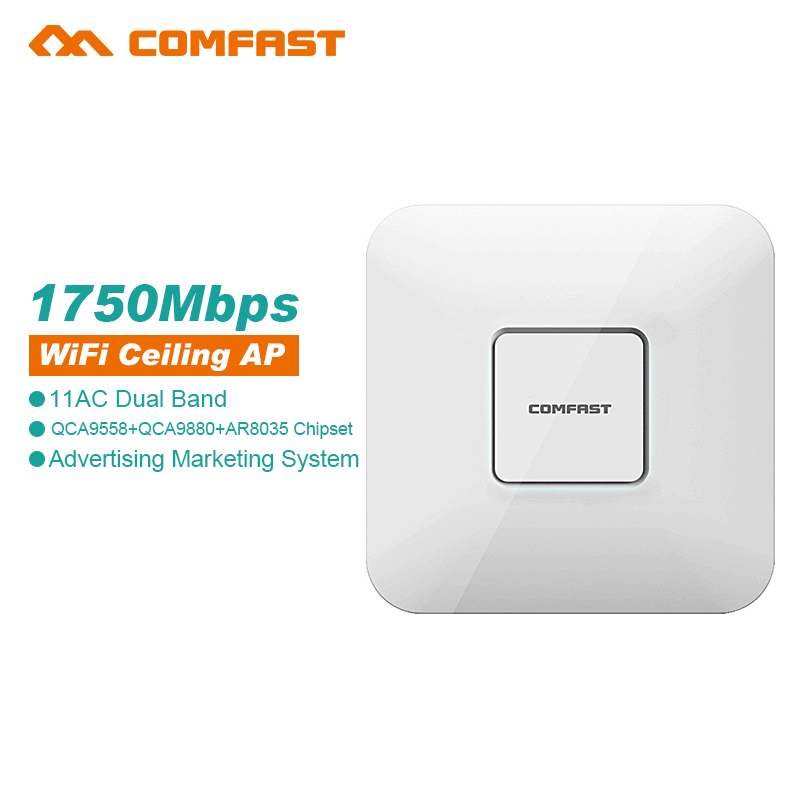 Comfast wireless indoor Ap 5.8G+2.4g 1750Mbps WiFi Router OPENWRT 801.11AC Wi Fi Repeater 16MB Flash/256MB RAM Signal Amplifier(China (Mainland))