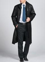 Free shipping !!! 2016 Hot Men Slim leather coat the longer section leather coat lining velvet casual jacket(China (Mainland))