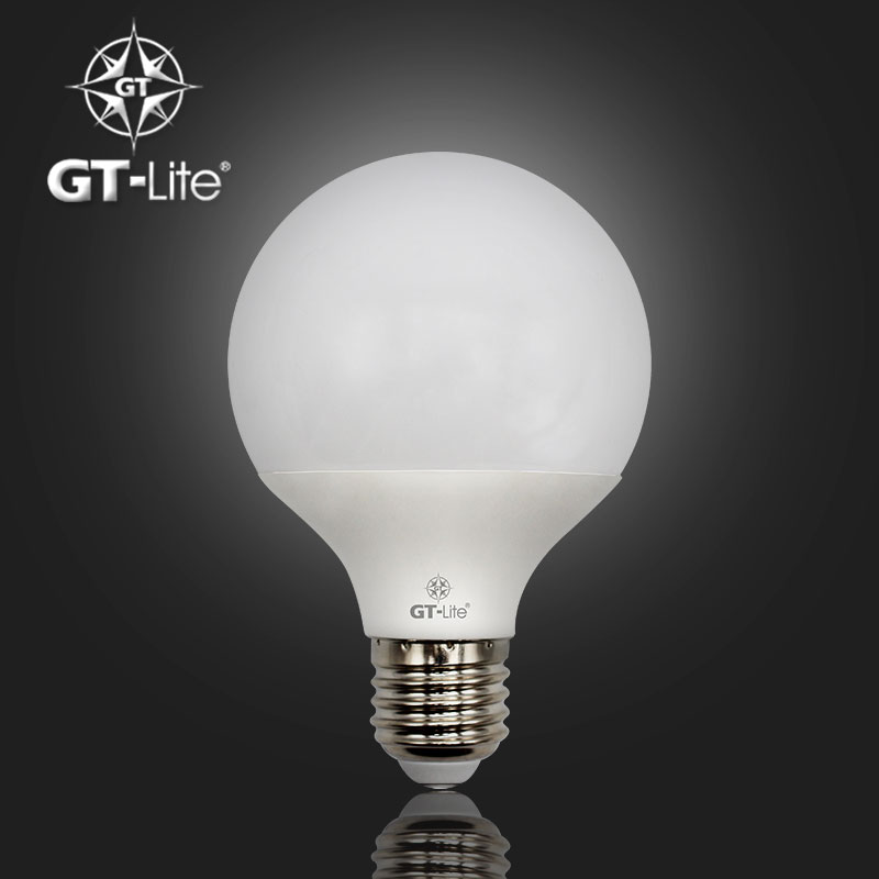 GT-Lite,Led Light Bulb,Aluminum Lampcup,Highly Translucent Lampshade,220V 230V 110V,E26&E27,60watts&80watts Equivalent,G80(China (Mainland))