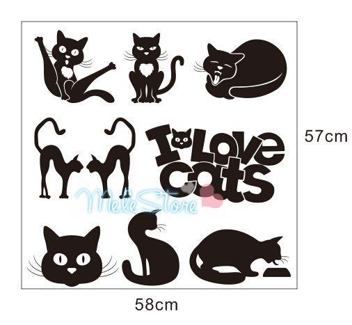 Фото - Стикеры для стен MeleStore 8PCS MQT405 стикеры для стен melestore bone cute decortaion mqt403