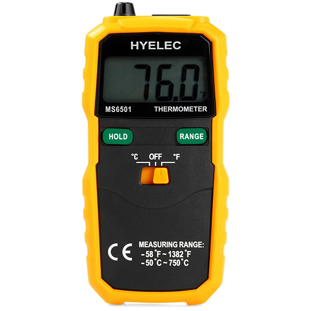 HYELEC MS6501 K Type Digital Wireless Thermometer Temperature Testing Meter Sampling rate 2 times / second Electrical Tools(China (Mainland))
