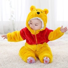 Cartoon design brand baby coveralls thick warm winter baby rompers cartoon winter baby romper  high quality for baby 0-3 Year(China (Mainland))