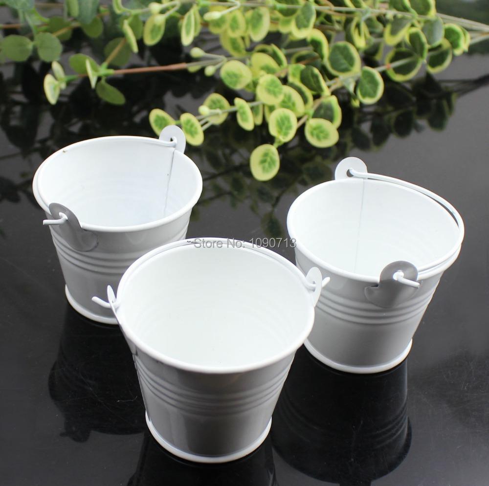 Buy free shipping 20x white mini wedding for Small pail buckets