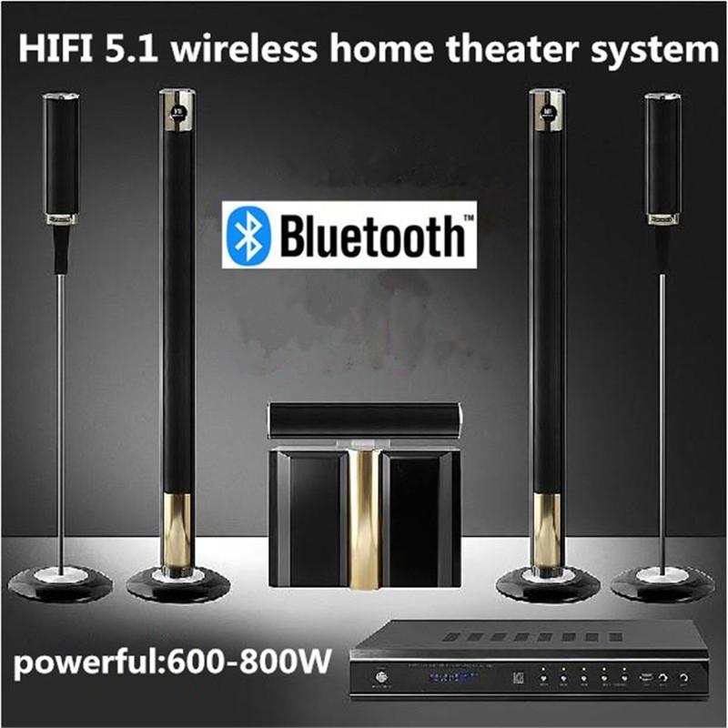 Brand New Hot 5.1 Wireless Home Theater System 800W Cinema TV Soundbar Box Surround Sound Free Drop Shipping(China (Mainland))