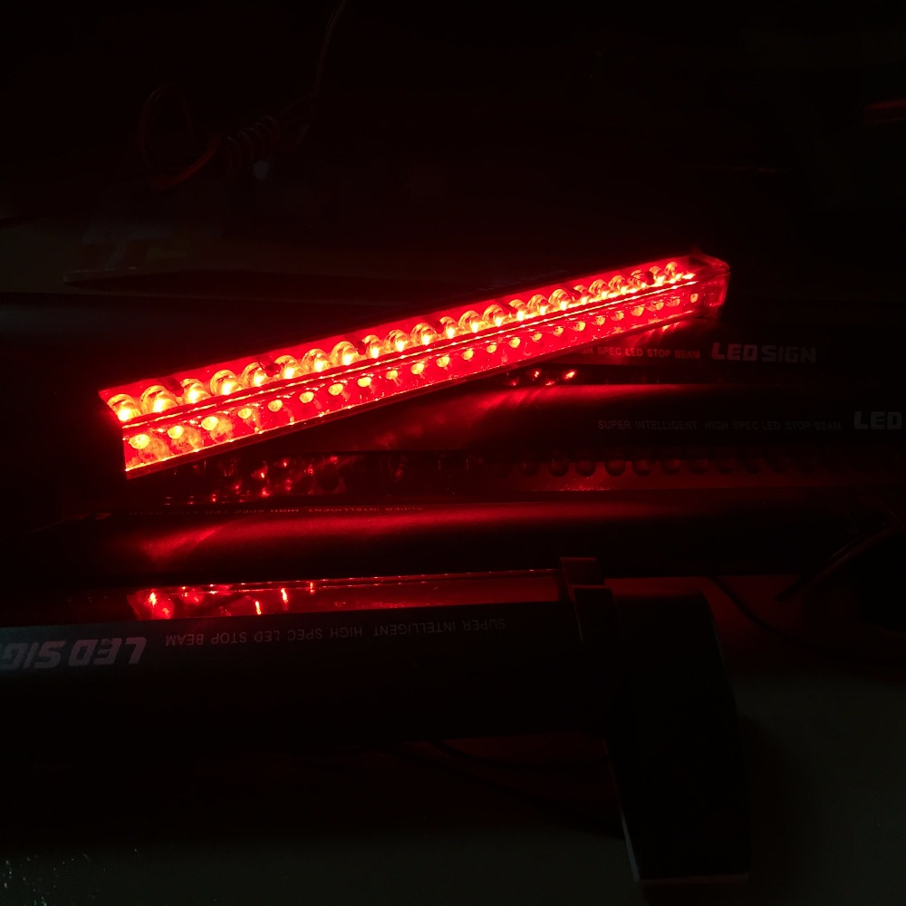 12V Red LED Car Styling Third Brake Light Bar External Light Source Fog Stop Truck Tailgate High Mount Rear Roof Warning Lamp(China (Mainland))