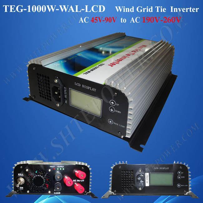 45-90V AC to AC 100V 110V 120V 220V 230V 240V 1kw 3 phase power inverter grid tie(China (Mainland))
