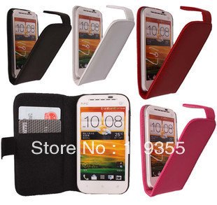 For HTC Desire SV Luxury 100% Genuine Leather case,Free shipping