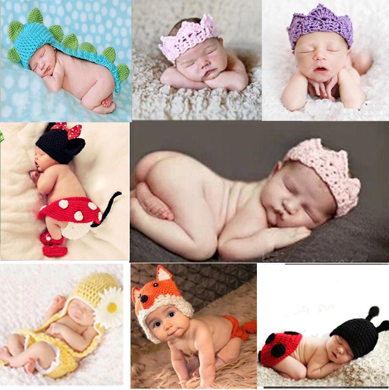Crochet Baby Hat Cute Girl Toddler Infant Mermaid Costume Set Photo Photography Prop 0-6 mon - Choco honey store