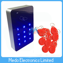 Free Shipping Touch Keypad 125KHz EM RFID Reader Door Access Controller Rfid Access Control