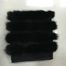 sleeveLeather mink fur sleeves lengthenedenuinge fur vest(China (Mainland))