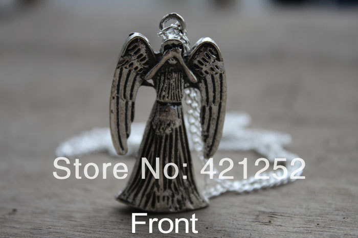20pcs/lot Weeping Angel Necklace, 3D double-sided inspired by Doctor Who <br><br>Aliexpress