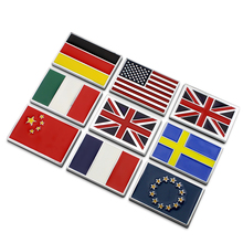 Buy EU France Germany Italy China Sweden Union USA Flag Ho 3D Metal Car Auto Badge Emblem 3M Sticker Car Styling Accessories for $6.33 in AliExpress store