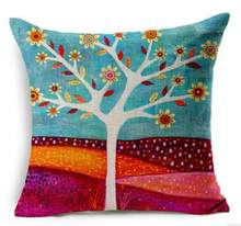 Linen Cotton Blending New Design Printed Seat Cushion pillow Sofa Pillow Bedding Pillows Decorative Throw Pillow 45cm*45cm(China)