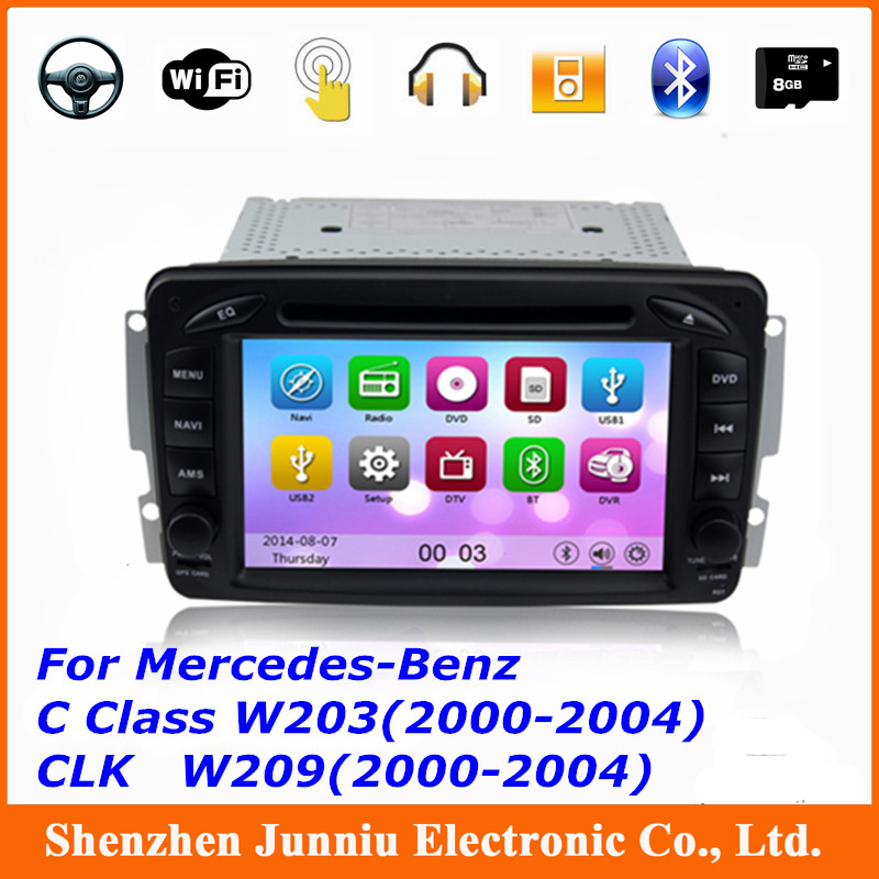 "KGL-7507M Car DVD Player 7"" Wifi 3G GPS Nav Radio Stereo For Mercedes Benz W203 W639 2 Din with Free 8GB Card Free Shipping(China (Mainland))"