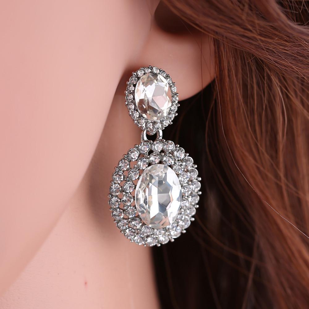 Brilliant Black Drop Earrings For Women 2016 Vintage Retro Resin Large Round