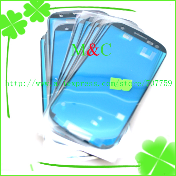 FREE DHL 200pcs/lot Adhesive glue For Samsung Galaxy S3 SIII i9300 frame/bezel Sticker (LCD digitizer Touch Screen repair fix)
