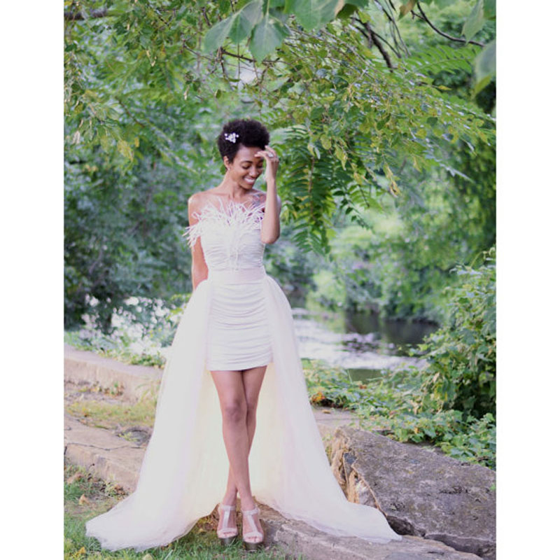 Maxi long tulle overskirt a line floor length detachable for How to make a long tulle skirt for wedding dress