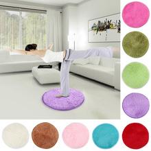 42cm Fluffy Round Foam Rug Non Slip Shower Bedroom Mat Door Floor Carpet Good Elastic Free Shipping(China (Mainland))