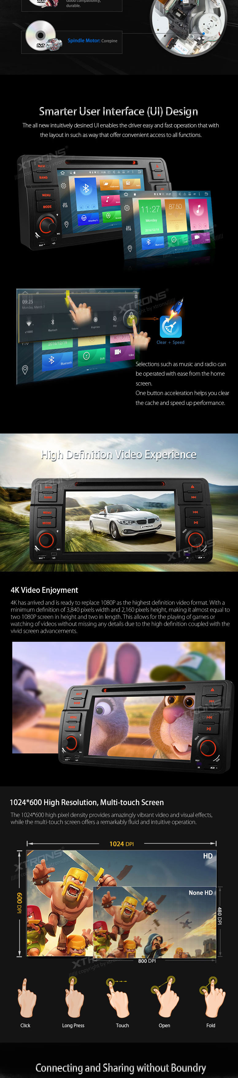 XTRONS 7″ Octa Core 4G Android 6.0 64bit 32GB+2G RAM Car DVD Player with TPMS OBD2 DAB+ GPS Maps for BMW E46/320/Rover 75/MG ZT