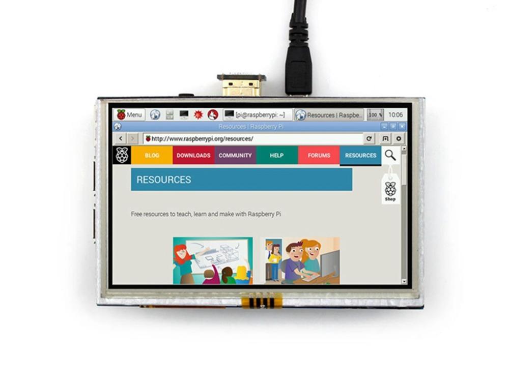 Raspberry pi 2 model B/B+/A+ 5inch 800X400 HDMI GPIO Resistive Touch Screen display(China (Mainland))