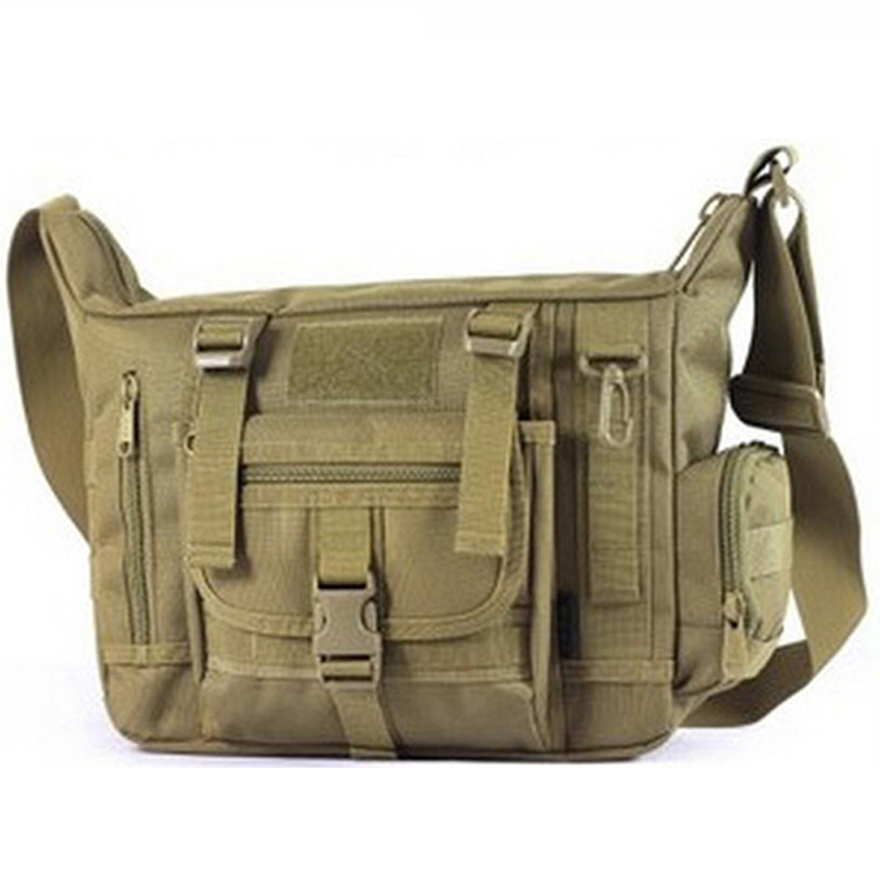Outdoors Casual Military Tactical Bag Acu CP Camouflage Army Green Mens Bag Hiking Travelling Sport Army Duffel Messenger Bag(China (Mainland))