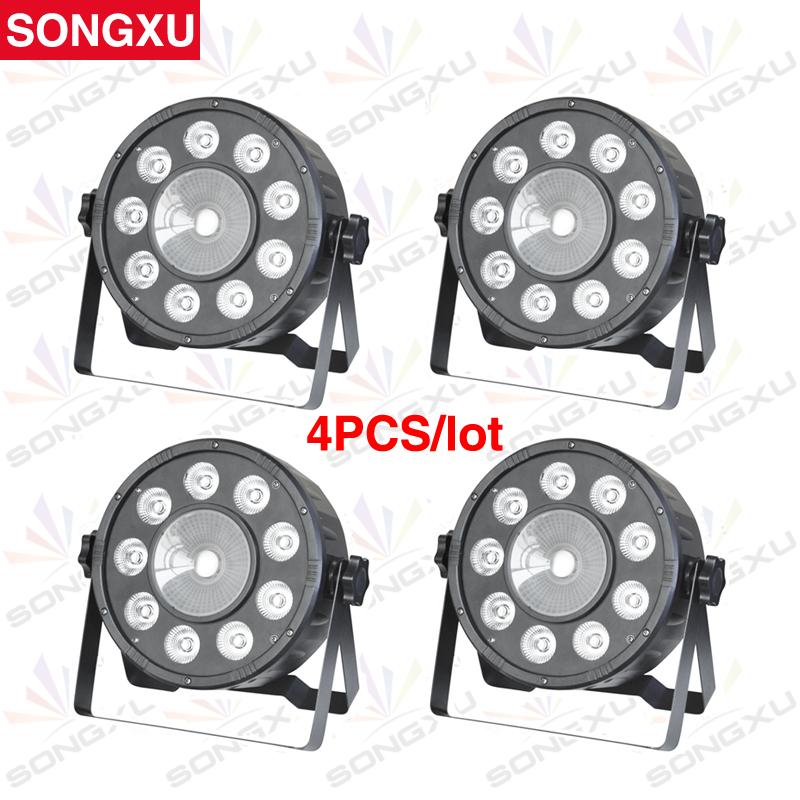 SONGXU 4pcs/lot 9PCS*3W 3IN1 and 1PCS*30W 3IN1 Hight Power LED par light/SX-PL090330(China (Mainland))
