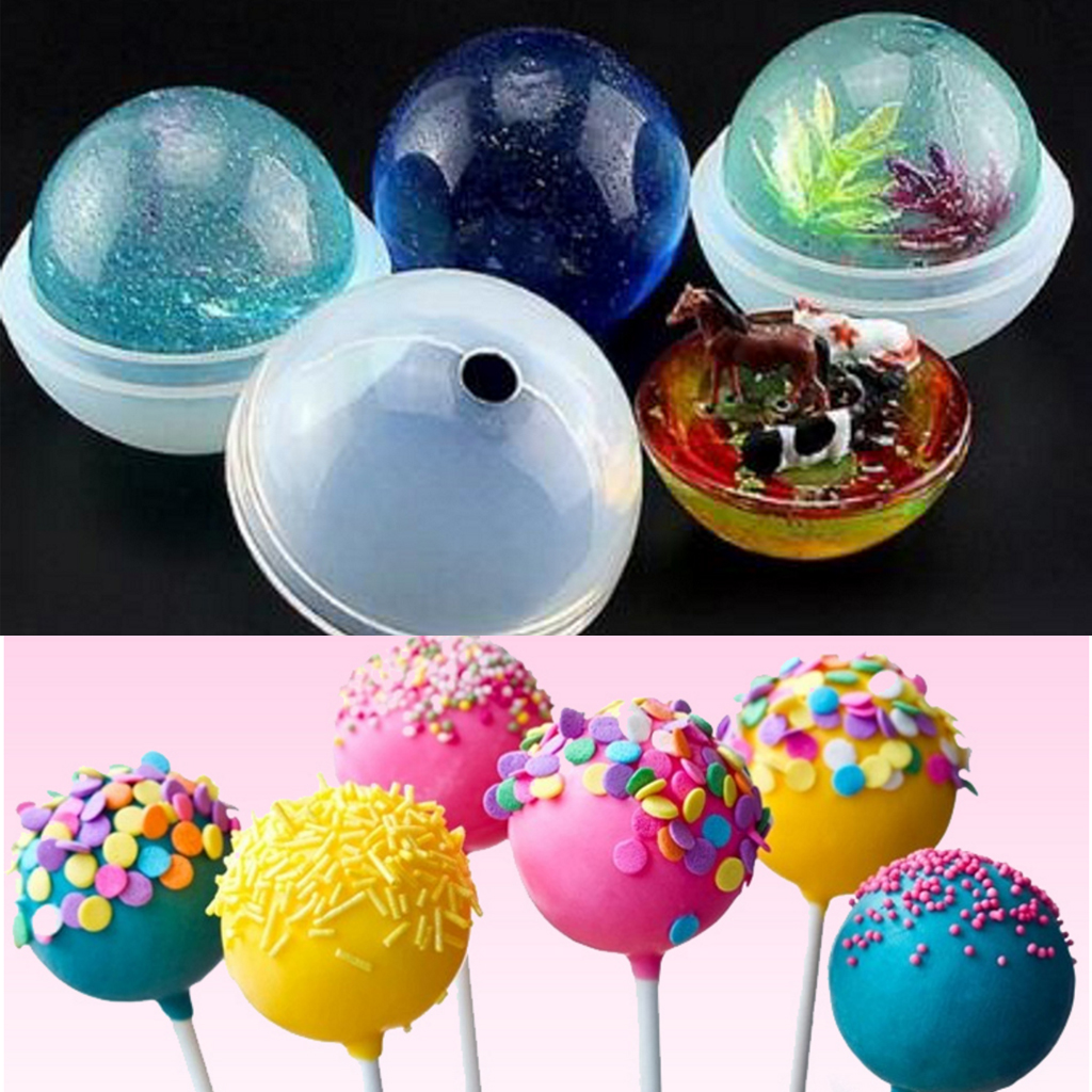 5 Sizes Sphere Ball Silicone Mold Mould for Resin Craft Ball Jewelry Making