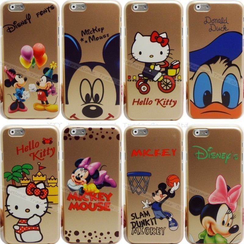 6/6S Cell Phone Gold Cute Cartoon Cover Apple iPhone 6 6S Case Fashionable Cases iPhone6 Shell Hello Kitty 2016 New - PHONE-CASE HOME store