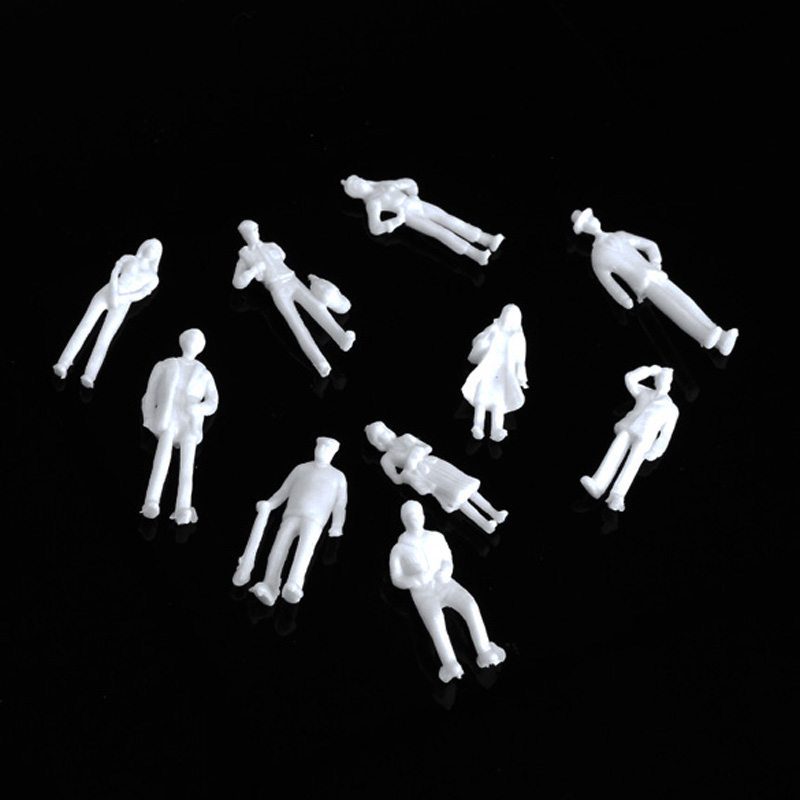 100pcs/set Figures 1:75/100/200 ABS Scaled Models Train Building People for Layout or Diorama Kid Child Toys(China (Mainland))