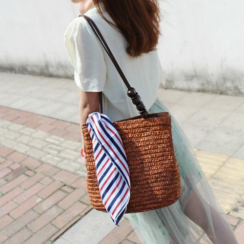 2016 New Fashion Women's Shoulder Handbag Tote Bags Straw ...