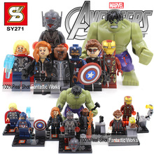 SY271 Marvel The Avengers 2 Age of Ultron Action Figures VS Decool Building Blocks Figures Avengers: Age of Ultron Minifigure(China (Mainland))