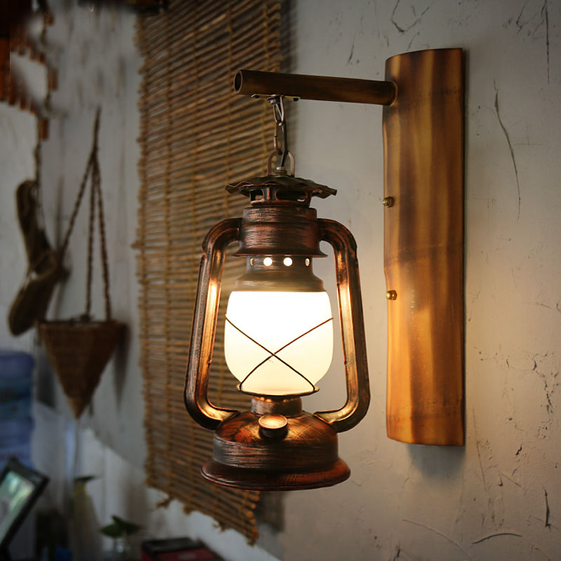 Wall Mounted Citronella Lamps : Kerosene Wall Sconce - Kerosene Citronella Copper Finish Wall Mount Sconce L, Vintage Antique ...