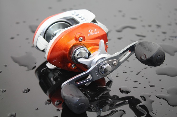 Buy orange bait casting fishing reel for Fish drops reels