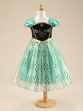 Hot Girls Princess Cartoon Elsa Dress Princess Dress Children Summer Kids Dresses Custom Baby Cosplay Party