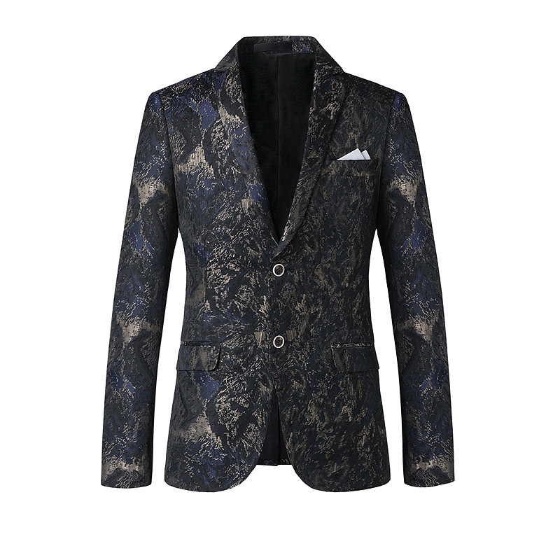 New Fashion Autumn Spring Korean Slim Casual Mens Blazer Men Suits Printed Ternos Masculino 2015 M-XXL For Wedding EventОдежда и ак�е��уары<br><br><br>Aliexpress
