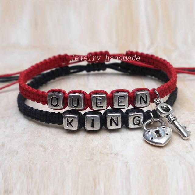 key lock couples bracelet loves bracelet king queen. Black Bedroom Furniture Sets. Home Design Ideas