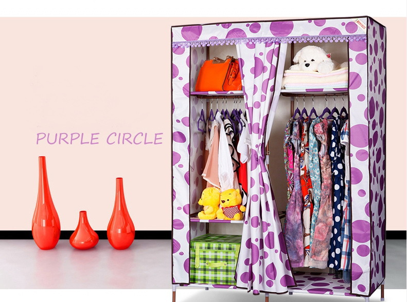 Oxford cloth  folding wardrobe for bedroom simple home furniture closet  tuba steel 4 style to choose<br><br>Aliexpress