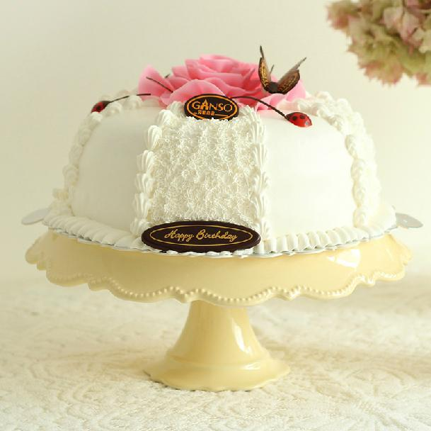 Ceramic cake stand fashion pan wedding dessert plate afternoon tea snack rack fruit - Linda's lovely items store