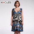 Plus Size 6 7XL Spring Summer Women Bohemian Sexy Elegant Midi Leopard Tunic FIt and Flare