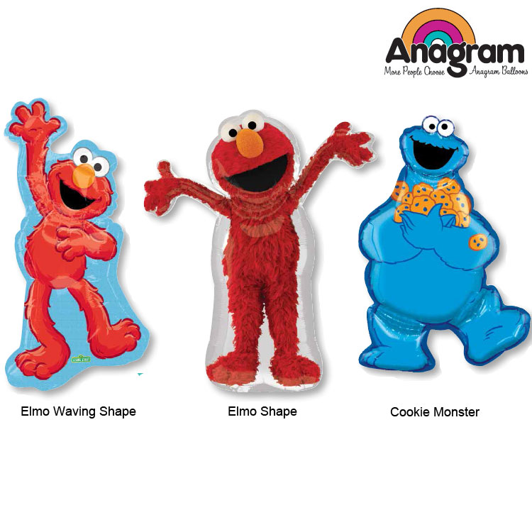 1pcs/lot Supershape Anagram Sesame Street Cookie Monster Elmo Balloons Cartoon Kid's Party Balloon Toys Gifts America Imported.(China (Mainland))