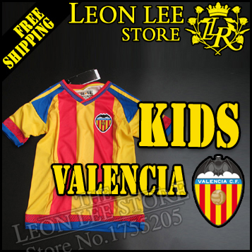 Valencia 2016 Kids kit Jersey 1516 Childrens clothes Soccer Jersey Away orange Football kit NEGREDO FEGHOULI PACO ALCACER PAREJO(China (Mainland))