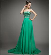 2015 new green fashion bra slim silk chiffon dress QHSG2015(China (Mainland))