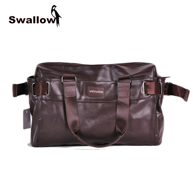 Large Capacity Men's Travel Shoulder Bag PU Leather VIntage Hight Quality Multifunctional Totes Handbag Zipper Spring Business