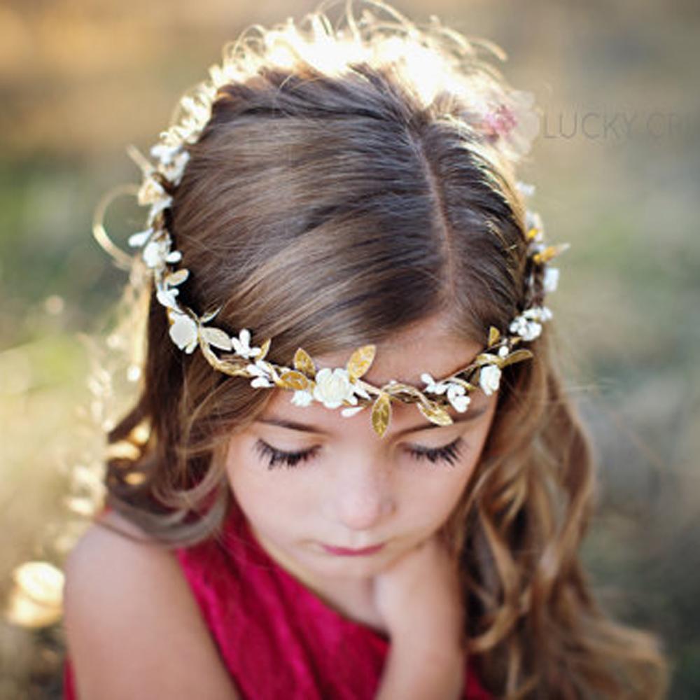 Baby Rose Flower Garland Chic Wedding Flower Leaves Girl Headband Elastic Hairband Crown Wreath Headdress Tiara Hair Accessories(China (Mainland))